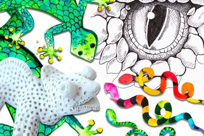 Reptile Paint & Sculpt Kit
