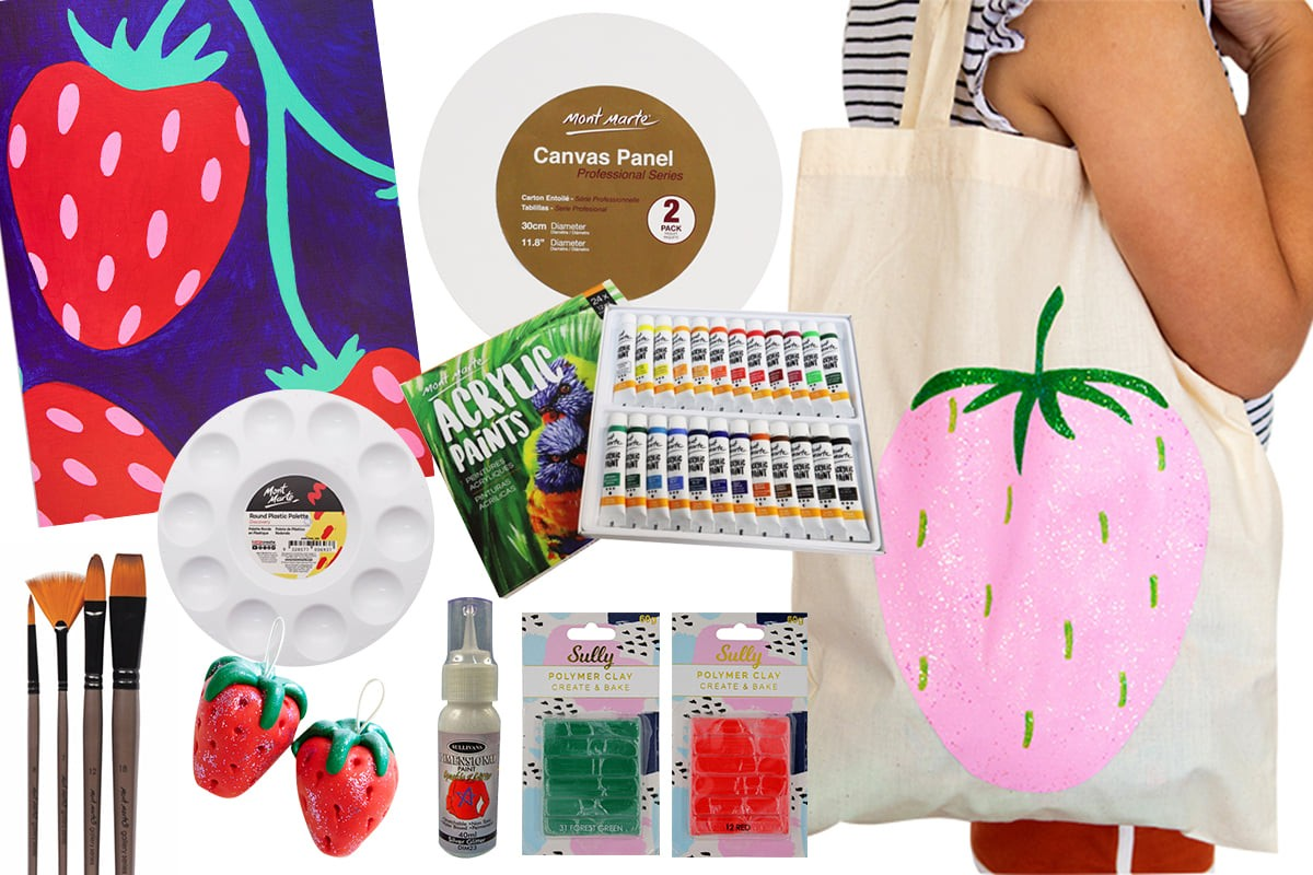 Strawberry Dreams Painting Bumper Kit (with free shipping)